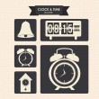 Clock and time icons — Stockvektor #26442475