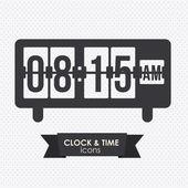 Uhr und zeit-symbol — Stockvektor
