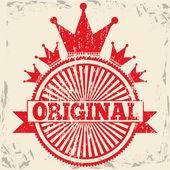 Original seal — Stock Vector