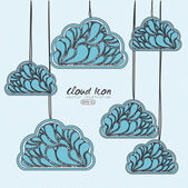 Clouds design — Stock Vector