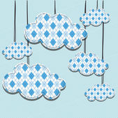Clouds design — Stock Vector