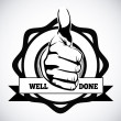 Stock Vector: Well done