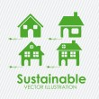 Sustainable design — Image vectorielle