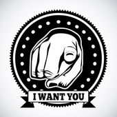 I want you — Stock Vector