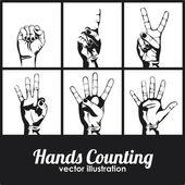 Hands counting — Vector de stock