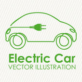 Elektrické auto — Stock vektor