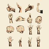 Hands simbols — Stock Vector