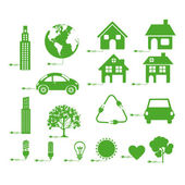 Sustainable icons — Stock Vector