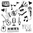 Music doddle — Stock Vector