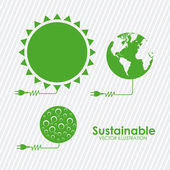 Sustainable design — Stock Vector