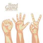 Hand game — Stock Vector