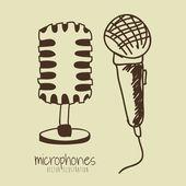 Microphones design — Stock Vector
