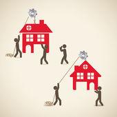 Ev tasarımı — Stok Vektör