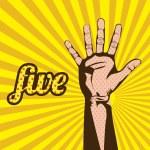 Five number — Stock Vector