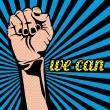 We can — Vector de stock #27233889