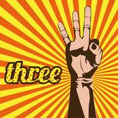 3 つの番号 — ストックベクタ