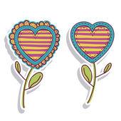 Hearts florals — Stock Vector