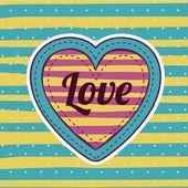 любовь дизайн — Cтоковый вектор