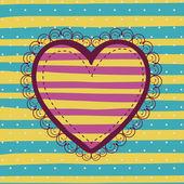 Hjärtdesign — Stockvektor