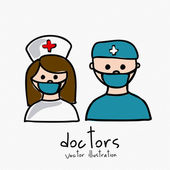 Doctors — Stock Vector