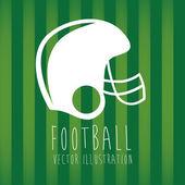 Helmet football — 图库矢量图片