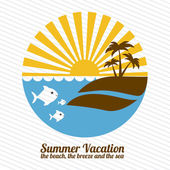 Summer vacations — Stock Vector