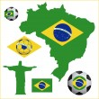 Soccer brazilian — Stock Vector #27653189