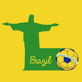 Football brésilien — Vecteur