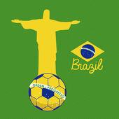 Soccer brazilian — Stock Vector