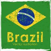 Bandera de brasil — Vector de stock