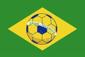 Soccer bazilian — Stock Vector