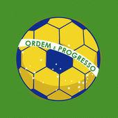 Fútbol brasileño — Vector de stock