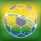 Fotbal brazílie — Stock vektor