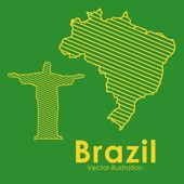 Braziliaanse — Stockvector