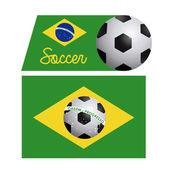 Brazilské fotbalové popisek — Stock vektor