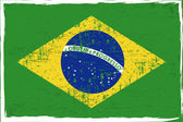 Brazílie vlajka — Stock vektor