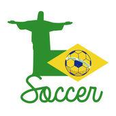 Piłka nożna brazylijski — Wektor stockowy