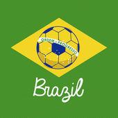 футбол баззилиан — Cтоковый вектор