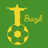 бразильский футбол — Cтоковый вектор
