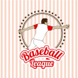Stock Vector: Baseball design
