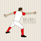 Honkbal ontwerp — Stockvector