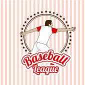 Baseball design — Stock Vector