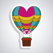 Balloon heart  — Stock Vector