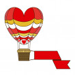 Balloon heart  — Stockvectorbeeld