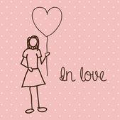 In love — Stock Vector