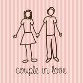 Couple in love — Vecteur