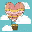 Balloon heart — Vector de stock