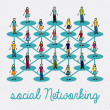 Social networking — Vector de stock #28530413