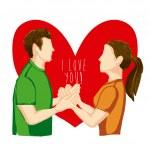 I love you design — Stock Vector #28536899
