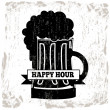Happy hour — Stock Vector